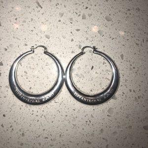 """Tiffany & Co. Jewelry - Tiffany & Co. 2""""in sterling silver hoop earrings"""